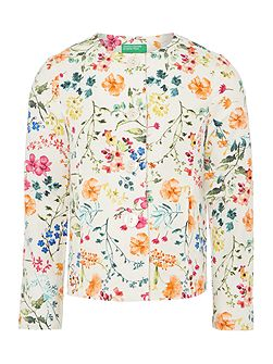 Girls Floral print jacket