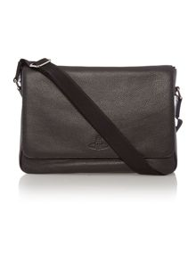 Vivienne Westwood Man postino leather messenger bag