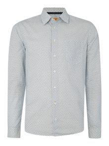 Hugo Boss Enamee regular fit fan print shirt