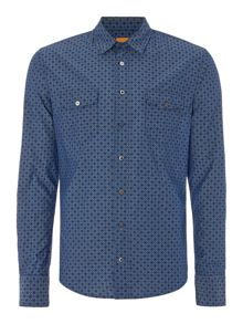 Hugo Boss Edaslime slim fit floral print shirt