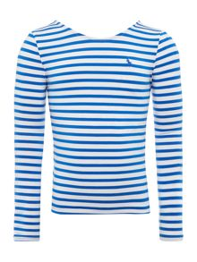Polo Ralph Lauren Girls Breton Stripe Long Sleeve T-shirt