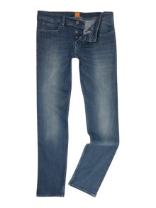 Hugo Boss Orange 63 slim fit light wash jean