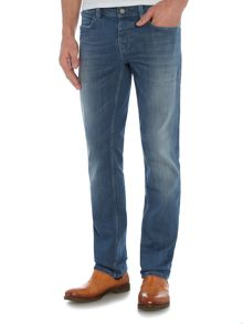 Orange 63 slim fit light wash jean
