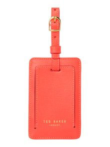 Ted Baker Korina orange luggage tag