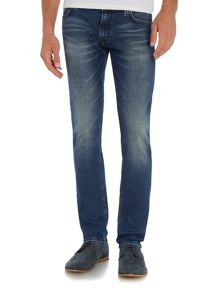 Hugo Boss Orange 71 extra slim mid blue jean
