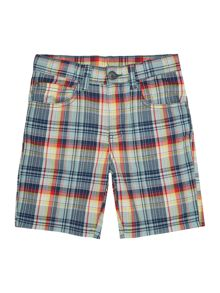 Benetton Boys Multi Check short