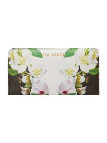 Ted Baker Lorees black floral zip around purse