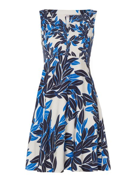Marella Quark leaf print sleeveless dress