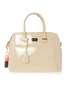 Paul's Boutique Patent maisy neutral medium rounded tote bag