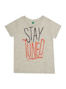 Benetton Boys Stay tuned graphic tee