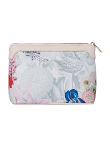 Ted Baker Hayleen grey floral large cosmetic bag