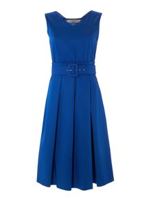 Marella Rinato sleeveless pleated belted dress