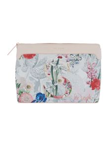 Ted Baker Arigold grey floral small cosmetic bag