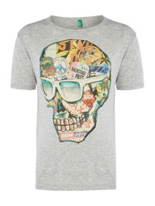 Benetton Boys Skull graphic tee