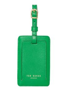 Ted Baker Korina green luggage tag