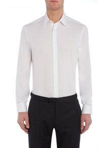Howick Tailored Wilton Double Cuff Cutaway Collar Poplin Shirt