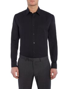 Howick Tailored Bermont Single Cuff Cutaway Collar Poplin Shirt