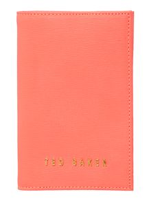 Ted Baker Didrika orange passport case