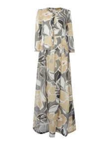 Marella Rivera floral shirt maxi dress
