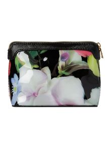 Ted Baker Surrin black floral cosmetic bag