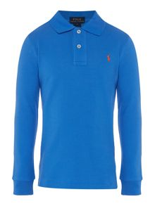 Polo Ralph Lauren Boys Long Sleeve Pique Polo