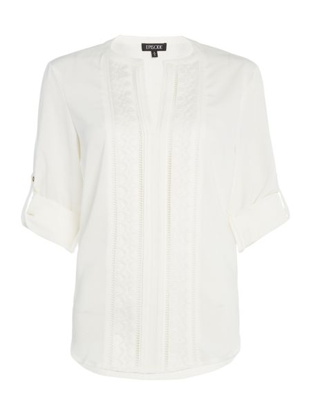Episode Blouse with lace panels