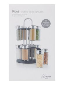 Linea Stainless steel filled 16 pc spice rack