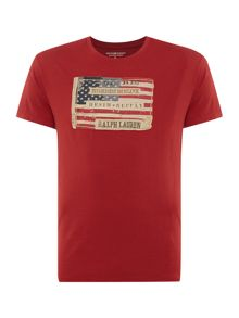 Denim and Supply Ralph Lauren Regular fit crew neck american flag print t shirt