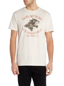 Refular fit crew neck panther head t shirt