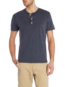 Denim and Supply Ralph Lauren Regular fit henley flag placket t shirt