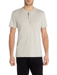Regular fit henley flag placket t shirt