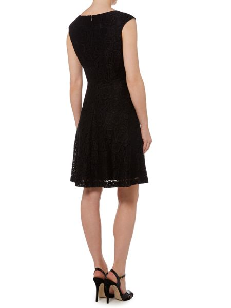Ellen Tracy Cap sleeve lace dress