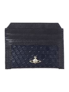 Vivienne Westwood Cronos beehive leather credit card holder