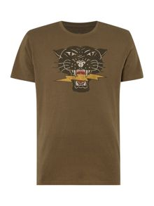 Denim and Supply Ralph Lauren Regular fit tiger head crew neck t shirt