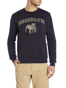 Denim and Supply Ralph Lauren Regular fit Brooklyn print crew neck sweatshirt