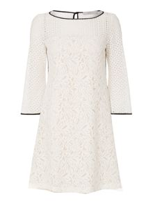 Marella Prisca lace dress with trim