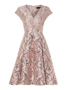 Marella Harlem printed a line occassion dress