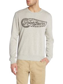 Regular fit printed logo crew neck sweatshirt