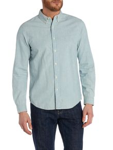 Regular fit buttin down chambray workshirt