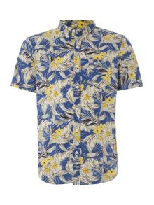 Denim and Supply Ralph Lauren Regular fit poplin floral short sleeve shirt