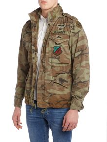 Denim and Supply Ralph Lauren Funnel neck camo field jacket