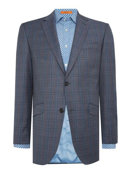 Simon Carter Melange Twill Over Check Suit Jacket