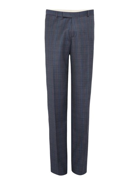 Simon Carter Melange Twill Over Check Suit Trousers