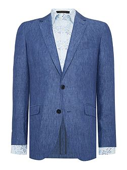 Solid Blue Suit Jacket