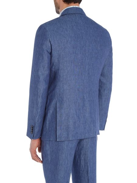 Simon Carter Solid Blue Suit Jacket
