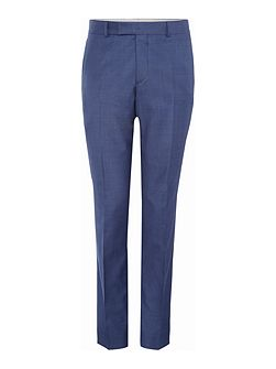 Solid Blue Suit Trousers