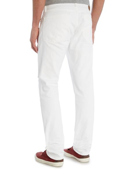 Denim and Supply Ralph Lauren Coolidge shred slim fit white jeans