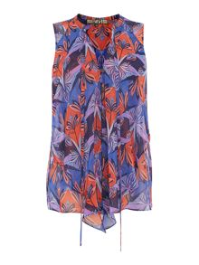 Biba Printed sleeveless blouse