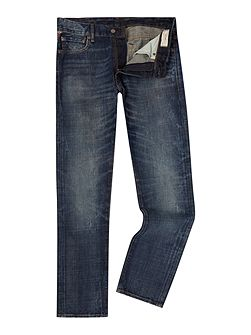 Davis slim fit mid wash jeans