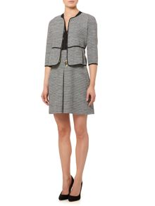 Marella Ghiera textured short jacket